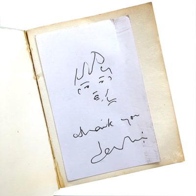 1971 'Melody Nelson' Jane Birkin Signed Lyric book