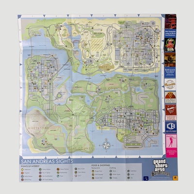 00's Grand Theft Auto Vice City + San Andreas Posters (Set of 2)