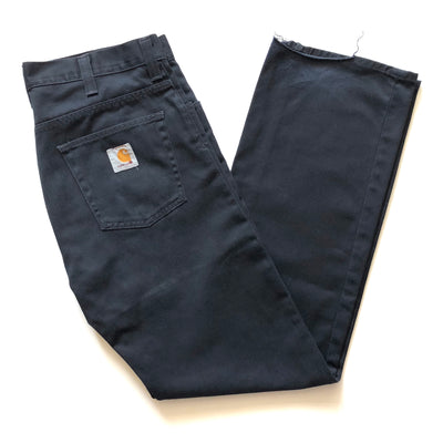 90's Carhartt Black Work Trousers