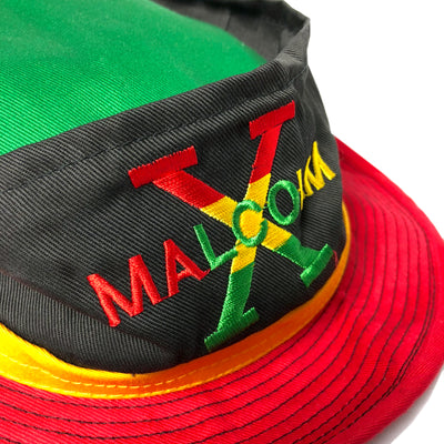 90's Malcolm X Tri-Colour Bucket Hat