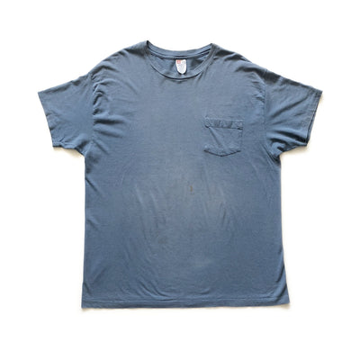 90s Single Stitch Hanes Blue Pocket T-Shirt