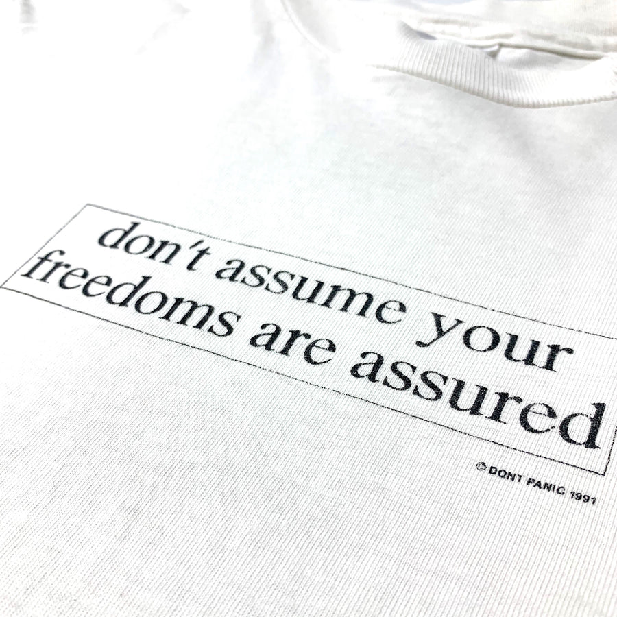 1991 Dont Panic Dont Assume T-Shirt