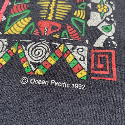 1992 Ocean Pacific Tribal graphic T-shirt
