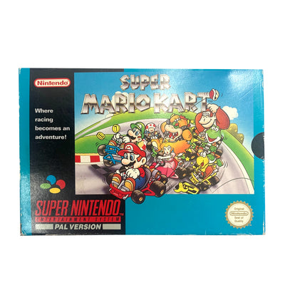 1992 Mario Kart Super Nintendo Game