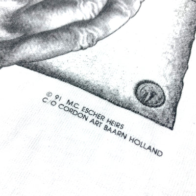 1991 M.C. Escher Sketching Hands T-Shirt