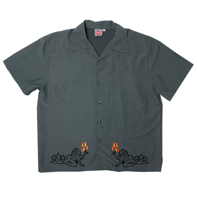 90's Porn Start Flame Girl Button up Shirt