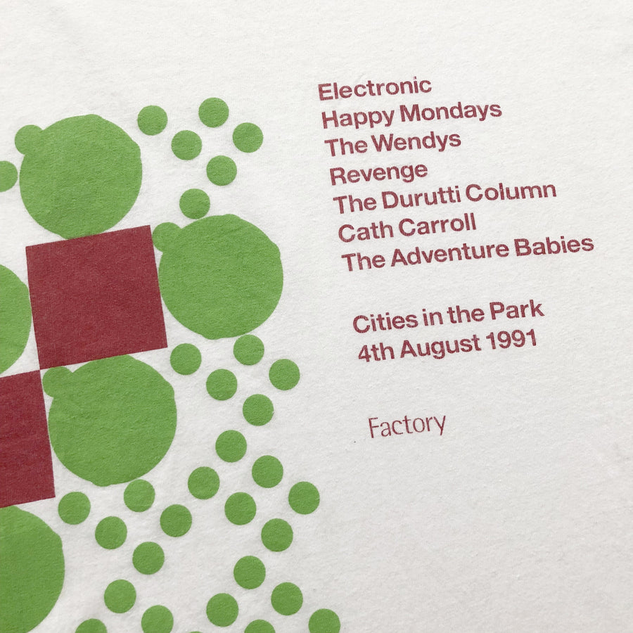 1991 Factory Records 'Cities in the Park' T-SHIRT