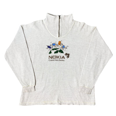 90's Nokia Connecting People Zip Fleece