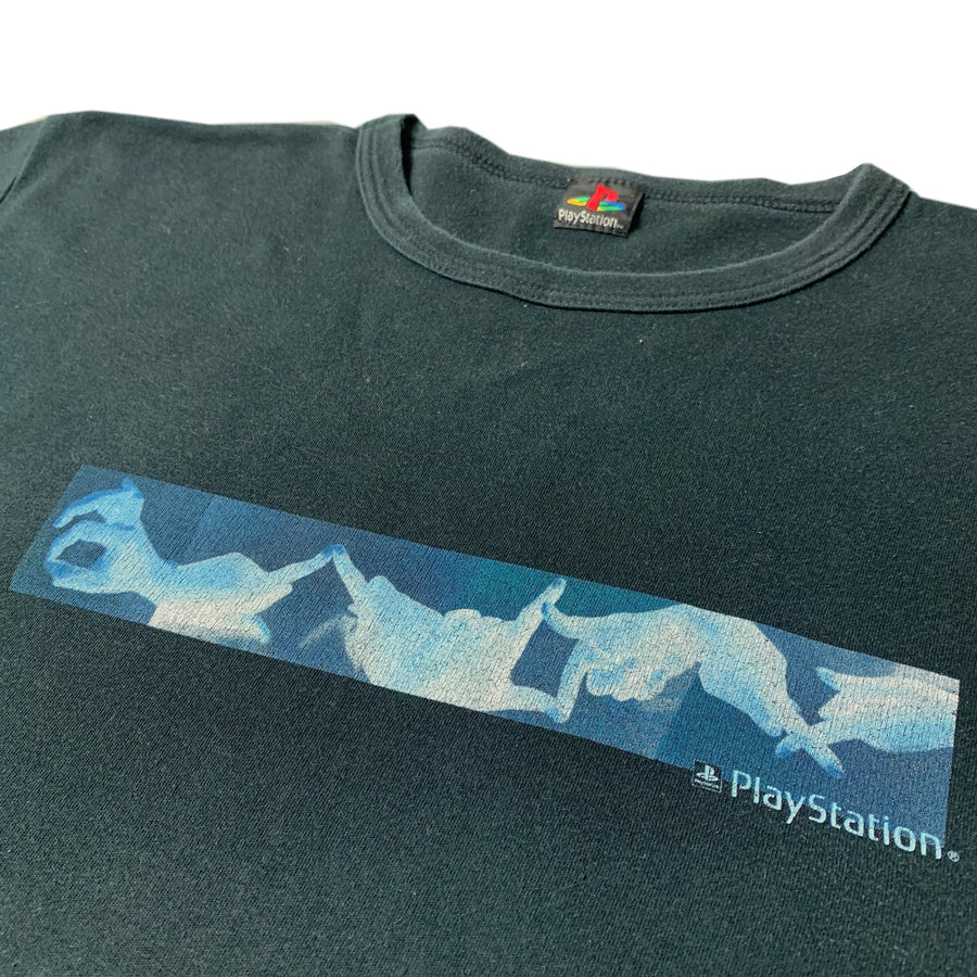 Late 90's PlayStation Hand Sign Logo T-Shirt
