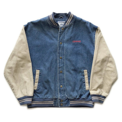 90s Compaq Computers Denim Varsity Jacket