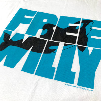 1993 Free Willy Movie Promo T-Shirt