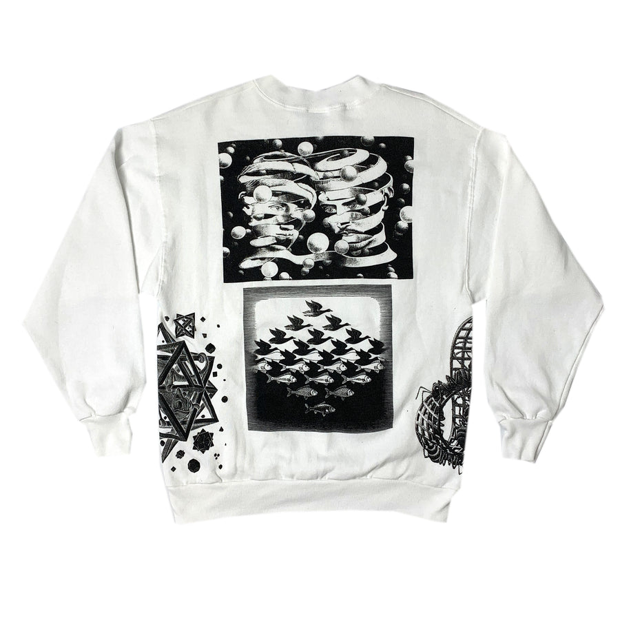 1990 M.C. Escher All Over Print Sweatshirt