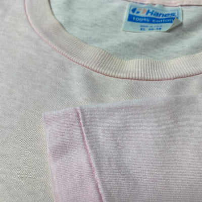 80's Hanes Basic Pale Pink T-Shirt