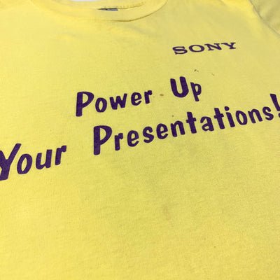 90's Sony Power Up Your Presentations T-Shirt