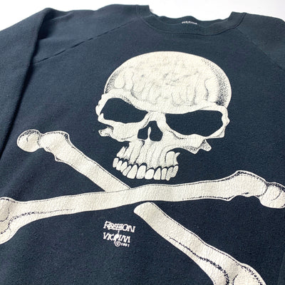 1991 Fashion Victim Skull and Bones Sweatshirt