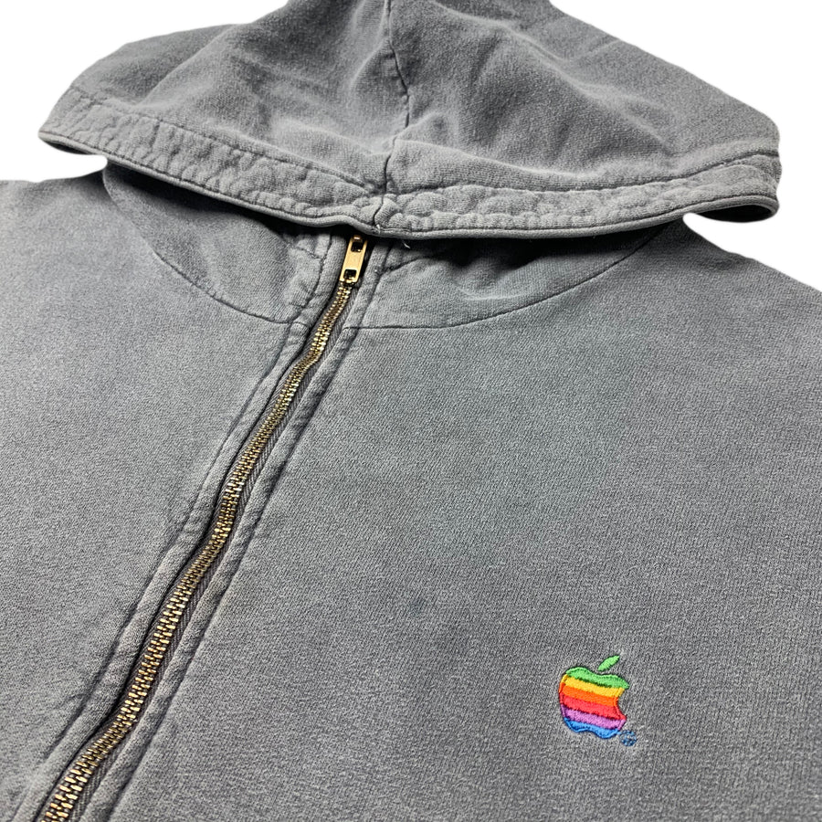 90's Apple Rainbow Logo Zipped Hoodie