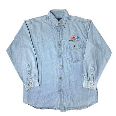 2000 Microsoft Office Denim Chambray Shirt
