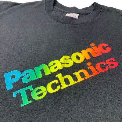 90's Panasonic Technics Rainbow Logos T-Shirt