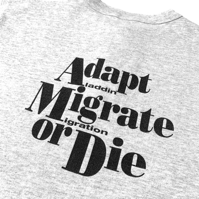 Mid 90's Apple Migrate or Die Henley Shirt
