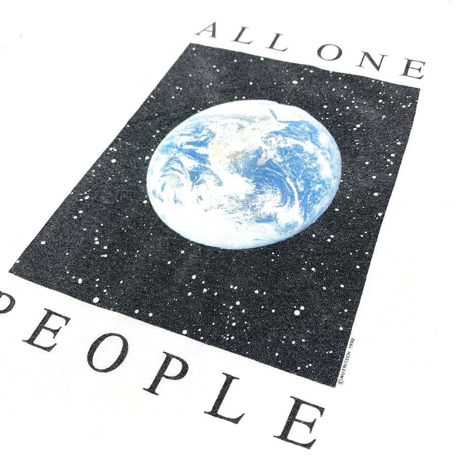1990 All One people Earth T-Shirt