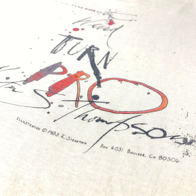 Early 90's Ralph Steadman x Hunter S. Thompson 'Weird' T-Shirt
