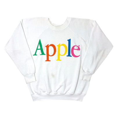 80's Apple Logo Crew Neck Sweatshirt