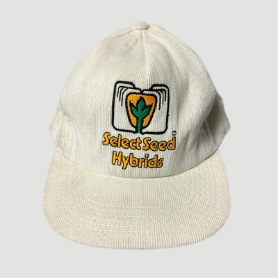 90s Select Seed Hybrids Corduroy Snapback Cap