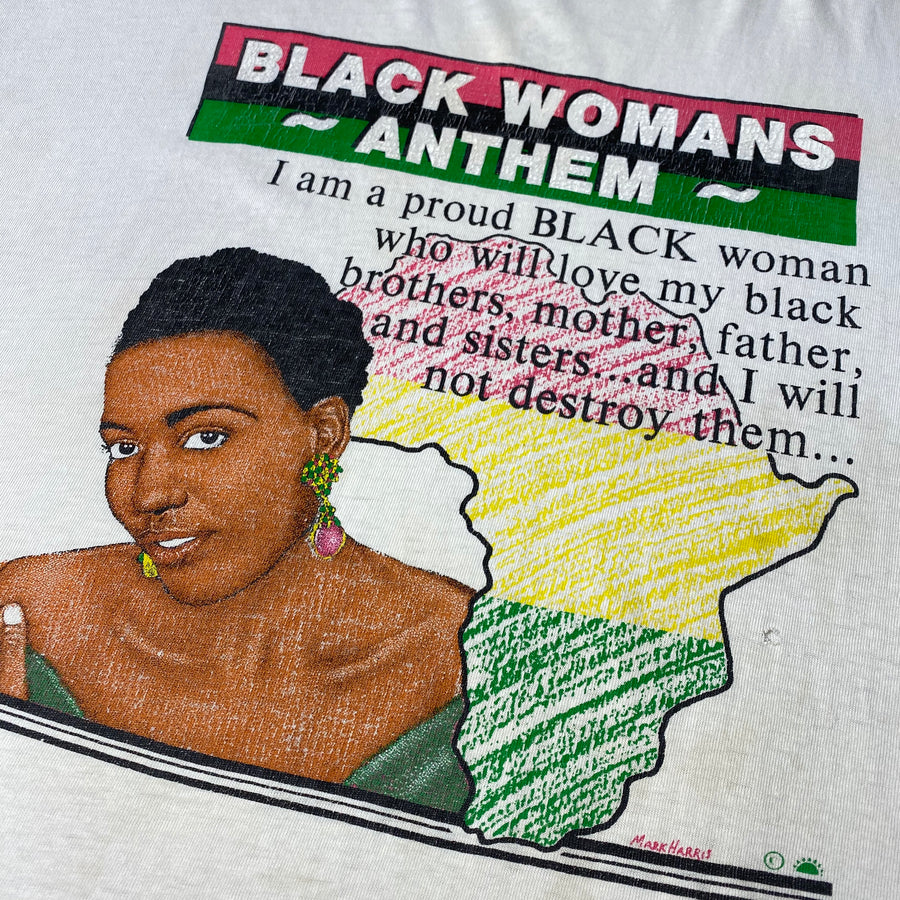 Early 90's Black Womans Anthem T-Shirt