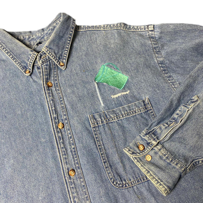 90's Tupperware Denim Chambray Work Shirt
