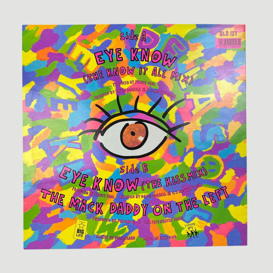 "1988 De La Soul 'Eye Know' 12"" Single"