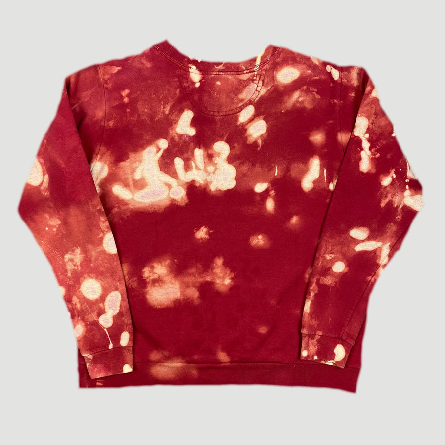 90's Bleached Red Basic Sweatshirt
