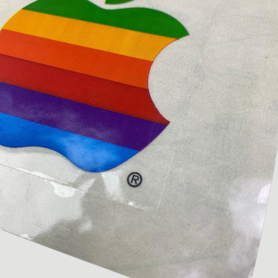 80's Rainbow Apple Stickers (Set Of Two)