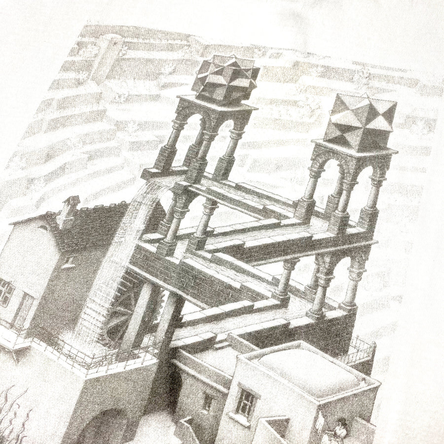 Early 00's M.C. Escher 'Waterfall' T-Shirt