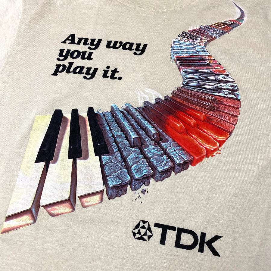 Mid 80's TDK 'Any Way You Play It' T-Shirt