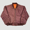 90's Burgundy MA1 Reversible Bomber Jacket