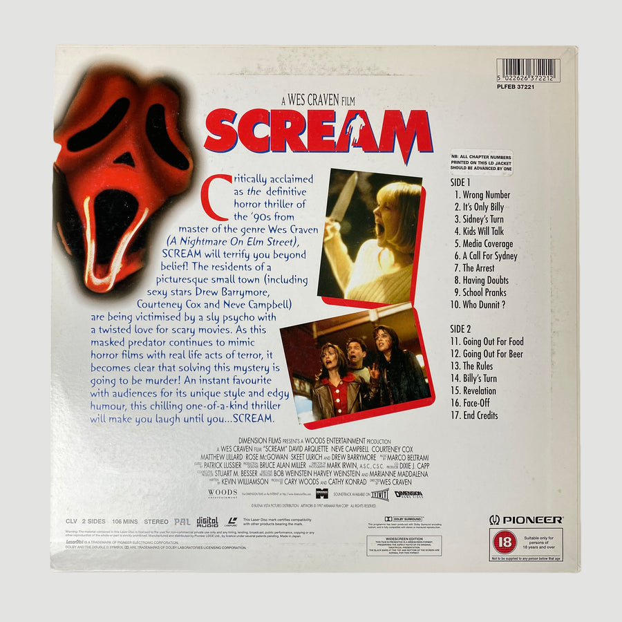 1997 Scream Japanese LaserDisc