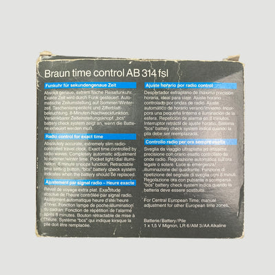 90's Braun Time Control Travel Alarm Clock AB 314 FSL (Boxed)