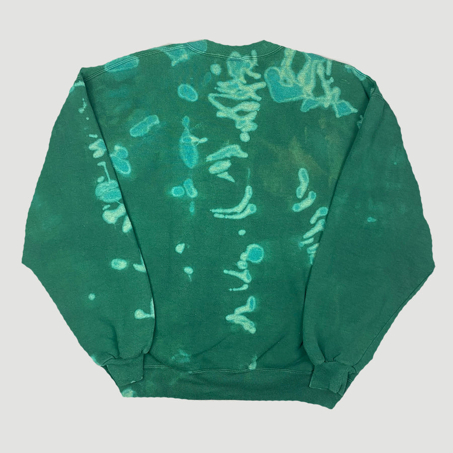 90's Bleached Teal Basic Sweatshirt