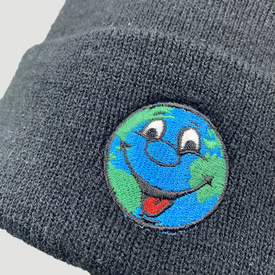 Late 90's World Industries Earth Beanie