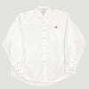 90's Apple White Cotton Work Shirt