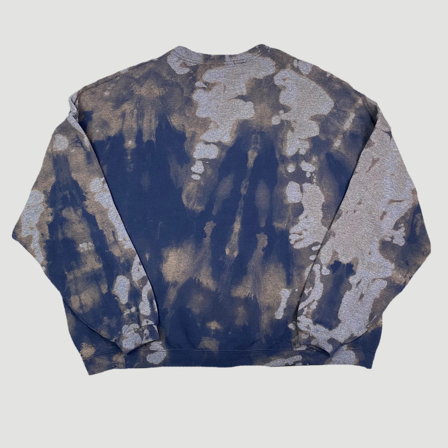 00's Bleached Navy Basic Oversized Sweatshirt