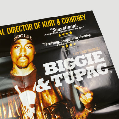 Biggie & Tupac (2002) UK Original Quad Cinema Poster