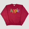 90's Apple Spell Out Burgundy Sweatshirt
