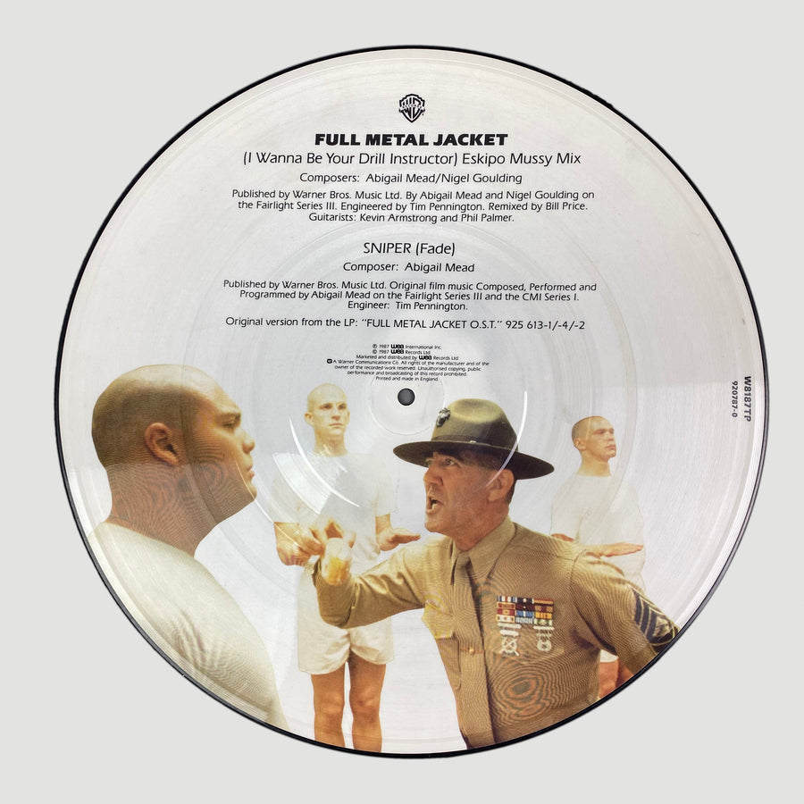 "1987 Abigail Mead & Nigel Goulding 'Full Metal Jacket (I Wanna Be Your Drill Instructor)' 12"" Picture Disc"