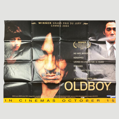 Oldboy (2003) UK Original Quad Cinema Poster