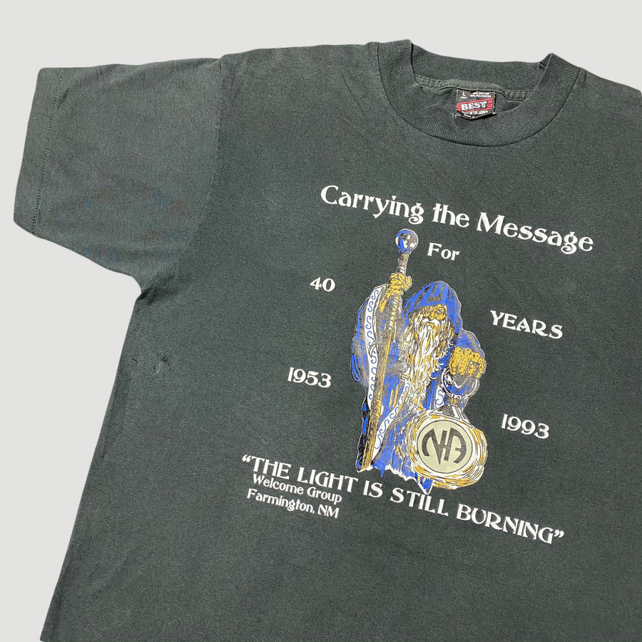 1993 Narcotics Anonymous 'Carrying The Message' T-Shirt