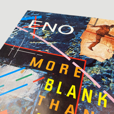 1986 Brian Eno 'More Blank Than Frank' Poster