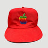 Late 80's Apple Logo Red Strapback Cap