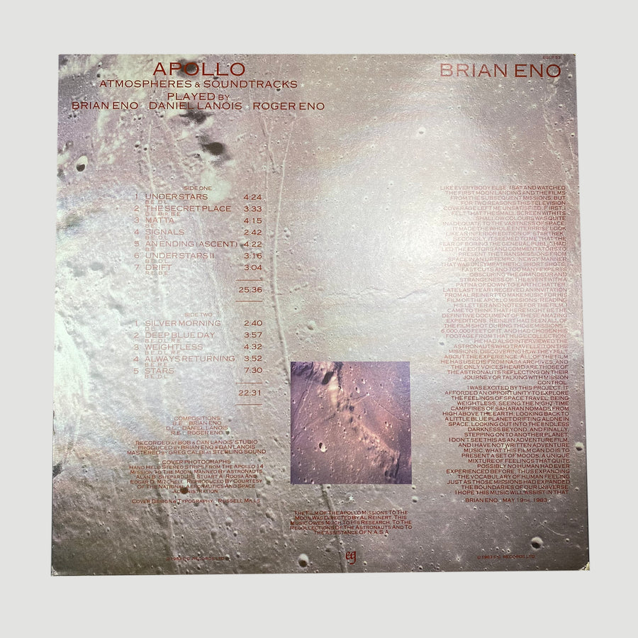 1983 Brian Eno With Daniel Lanois & Roger Eno ‎'Apollo - Atmospheres & Soundtracks'