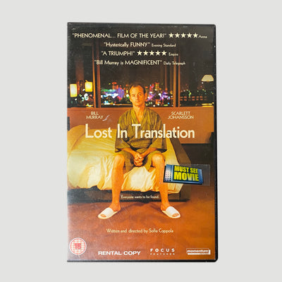 2003 Lost In Translation VHS